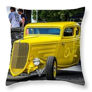 Yellow Rod Throw Pillow