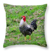Yellow Rooster Throw Pillow