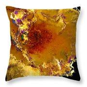 Yellow Rose Art Throw Pillow
