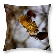 Yellow Shafted Throw Pillow