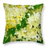 Yellow Shower Tree - 1 Throw Pillow