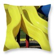 Yellow Slides Throw Pillow