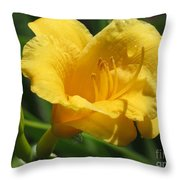 Yellow Tiger Lily Throw Pillow