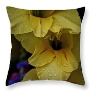 Yellow Trio Throw Pillow by Susan Herber