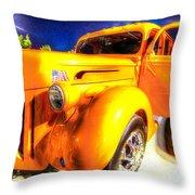 Yellow Truck 2 Throw Pillow