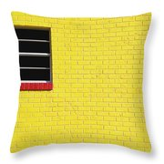 Yellow Wall 2 Throw Pillow