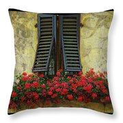Yellow Wall Throw Pillow by Mauro Celotti