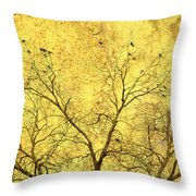 Yellow Wall Throw Pillow