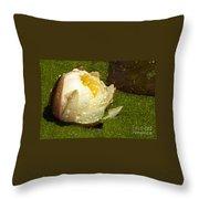 Yellow Waterlily Bud Throw Pillow
