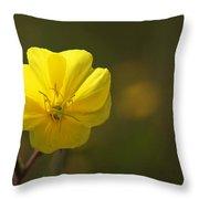 Yellow Wild Flower Throw Pillow