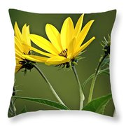 Yellow Wildflower 2 Throw Pillow