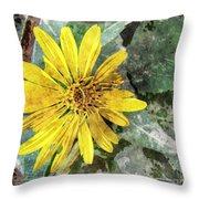 Yellow Wildflower Photoart Throw Pillow