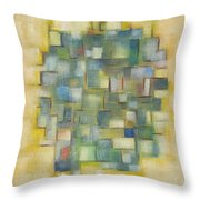 Yellow With Green  Throw Pillow