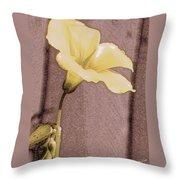 Yellow Wood Sorrel Throw Pillow