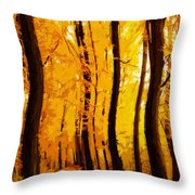 Yellow Wood Throw Pillow
