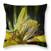 Yellowjacket Throw Pillow