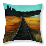 Yellowstone Boardwalk Throw Pillow