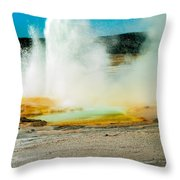 Yellowstone Geysers Throw Pillow