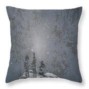 Yellowstone National Park, Winter View Throw Pillow