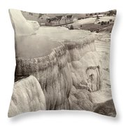 Yellowstone Park: Mammoth Throw Pillow