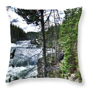 Yellowstone River II Throw Pillow