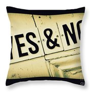 Yes And No Throw Pillow