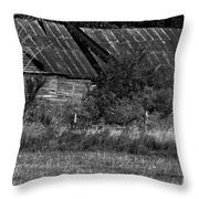 Yesterday's Barn Throw Pillow