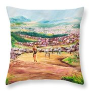 Yesteryears Throw Pillow