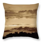 Yesteryears Sunset Throw Pillow
