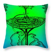 Yggdrasil From Norse Mythology Throw Pillow