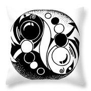 Yin And Yang Fish Design Throw Pillow