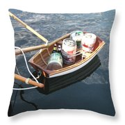 Yo Ho Ho And A Skiff Full Of Beer Throw Pillow