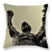 Yo Rocky Throw Pillow