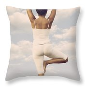 Yoga Throw Pillow by Joana Kruse