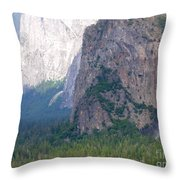 Yosemite Bridal Veil Fall Throw Pillow