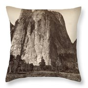 Yosemite: Cathedral Rock Throw Pillow