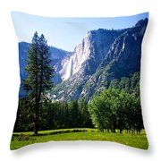 Yosemite Falls From The Ahwahnee Throw Pillow