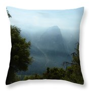Yosemite Falls Hike Throw Pillow