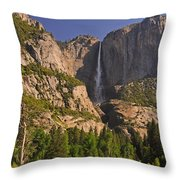 Yosemite Fall's Spring Flow Throw Pillow