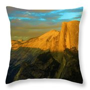 Yosemite Golden Dome Throw Pillow