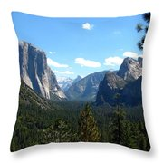 Yosemite Panorama Throw Pillow