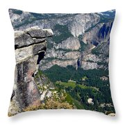 Yosemite Valley From Glacier Point Throw Pillow
