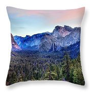 Yosemite Valley From Tunnel Throw Pillow