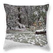 Yosemite Winter Throw Pillow by Heidi Smith