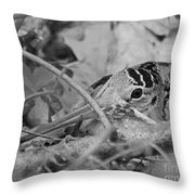 You Don't See Me Black N White Throw Pillow