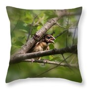 Young And Scared Throw Pillow