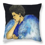 Young Billie Holiday Throw Pillow