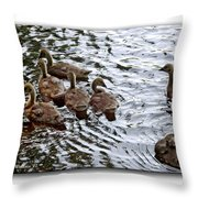 Young Geese Throw Pillow