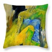 Young Girl 572180 Throw Pillow