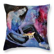 Young Girl 662160 Throw Pillow